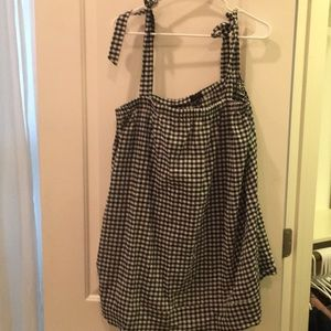 J. Crew gingham swim cover up sz L